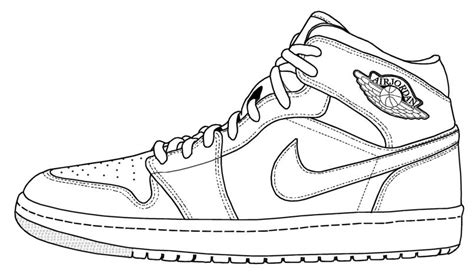 Drawing Jordans by Sneakers Shoe Pencil And In Color