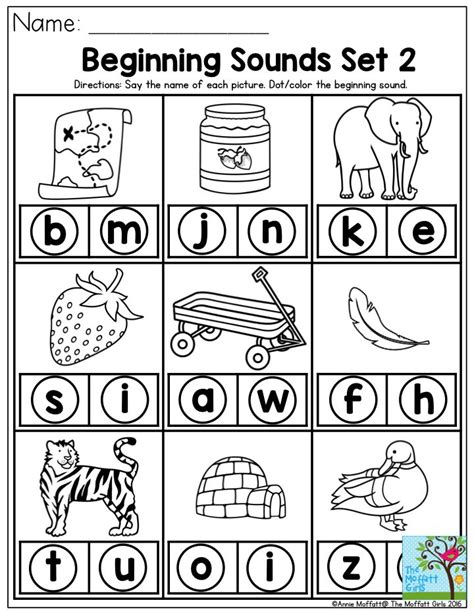 beginning sounds      picture  dot