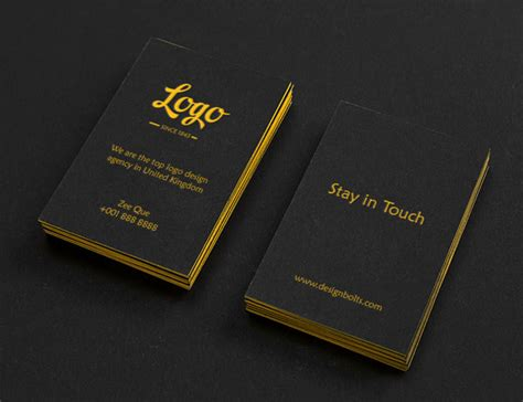 business card template embossed free black vertical business card mock up psd embossed