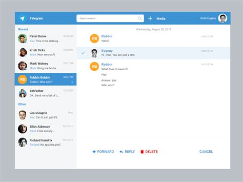 Telegram Web Message By Eygeny Gulin Dribbble