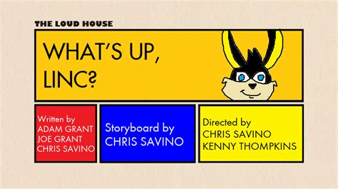The Loud House Title Card Template by Tlh What S Up Linc Title Card With Ace Bunny By