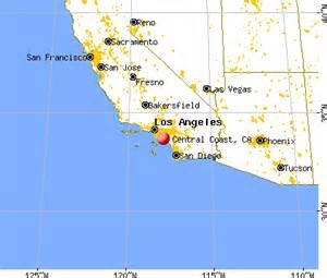 map of central california coastal cities california map