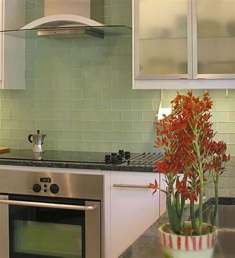 green glass tiles for kitchen backsplashes green backsplash home decor