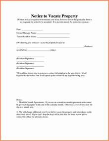 Letter To Vacate Property by 10 Sle Letter Notice To Vacate Rental Property Notice Letter