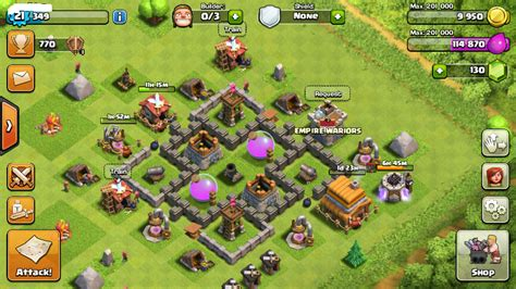 game coc yg sudah di mod coc th 5 susunan base formasi serta strategi pertahanan