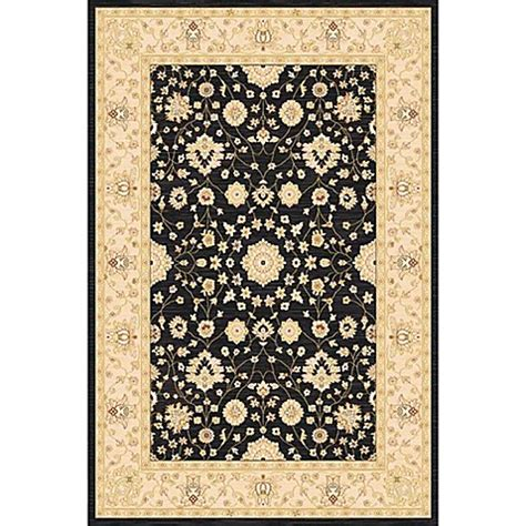 heated area rug antiqua heat set area rug in black www bedbathandbeyond