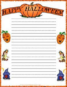 Halloween Printable Writing Paper Free Happy Halloween Writing Paper Happy Halloween Free