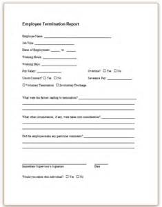 Termination Paperwork Template by Form Specifications