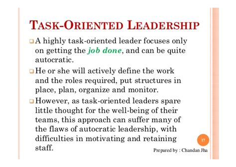 advantages disadvantages of people oriented leadership leadership slide share by chandan jha