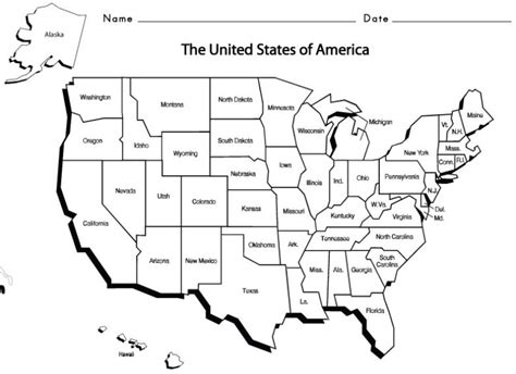 usa map with states and capitals printable us states and capitals worksheets printable archives