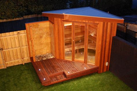 Outdoor Steam Room Kits - outdoor sauna with changing room myideasbedroom com