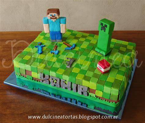 pastel decorado minecraft dulcinea tortas y dem 225 s dulzuras torta cookies y cupckes