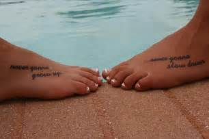 foot tattoos best friend quotes quotesgram