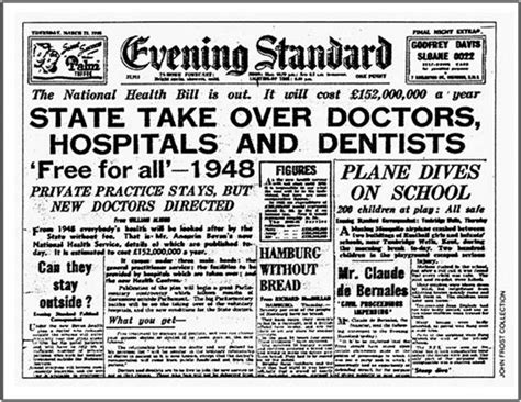 Magazine News Of The Evening by Nhs Newspaper Articles Beveridge Search