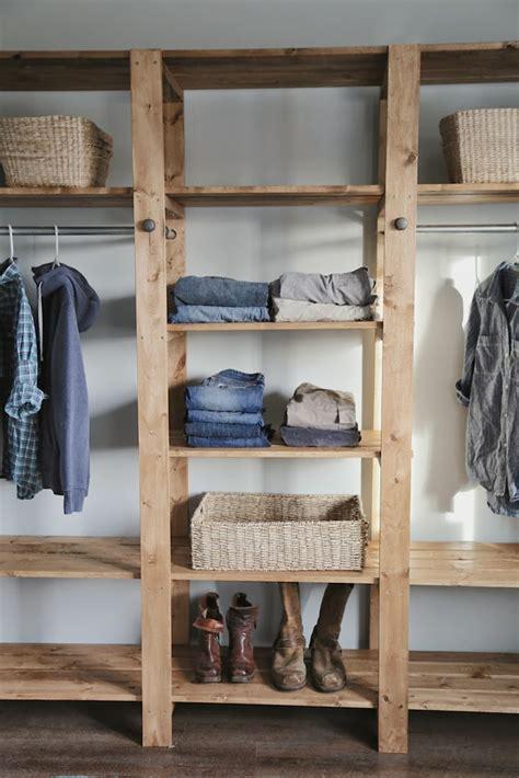 Estanterias Rusticas De Madera #5: Wood-closet-diy-2.jpg