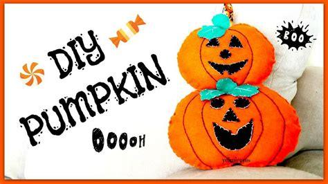 decorar para halloween paso a paso diy calabazas de fieltro para halloween manualidades