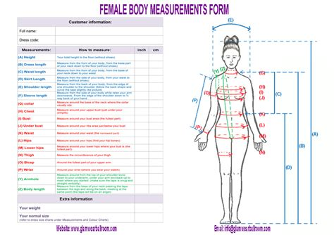 measurements template measurement forms page glamwearballroom