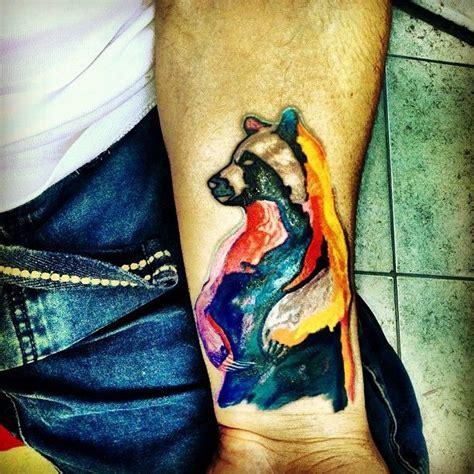 water color bear tattoo  wrist bear paw tattoos bear