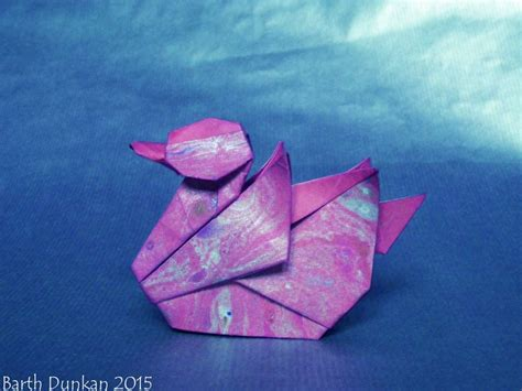 Origami And Kirigami - waterbird diving duck barth dunkan diagram origami