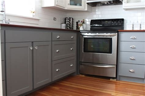 Gray Painted Kitchen Cabinets by Gray Kitchen Cabinet Paint Colors Transitional Kitchen
