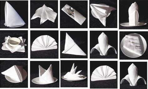 Paper Table Napkin Folding - get to all about food beverages and the hospitality