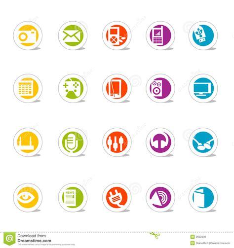 imagenes iconos web media simples de los iconos del web vector fotos de