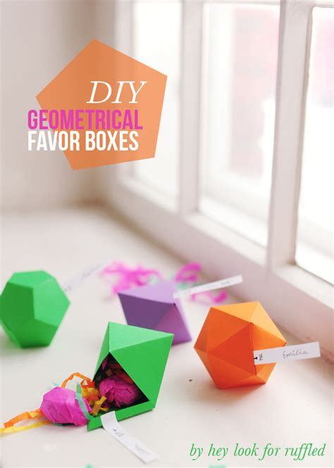 diy favor boxes templates hey look diy geometric favor boxes