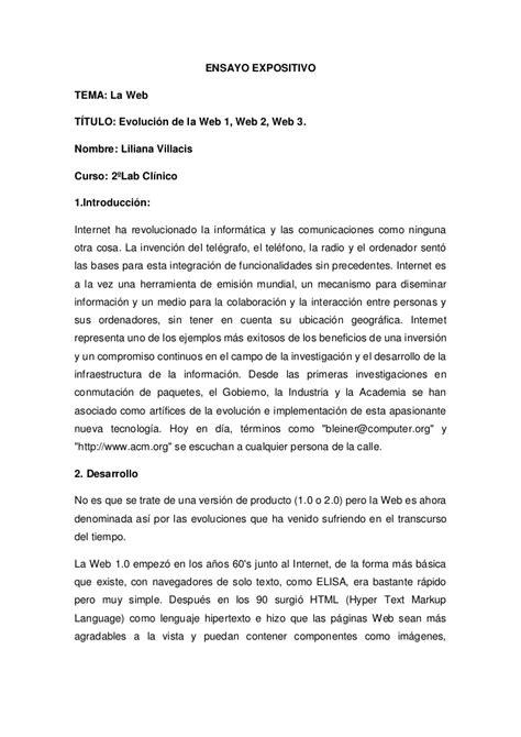 2 ensayos ii letras ensayo expositivo