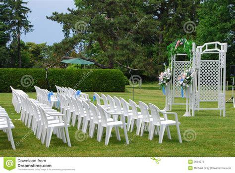 outdoor wedding setup stock photography image