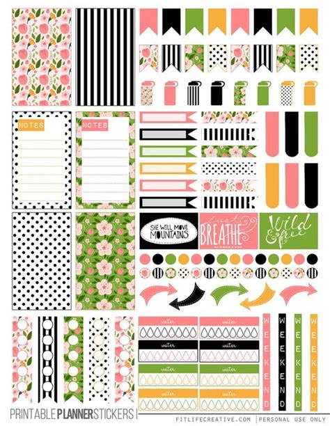 free printable planner pages classic size spring floral free printable planner stickers for the
