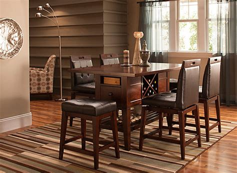 raymour and flanigan dining room danfield 7 pc counter height dining set dining rooms