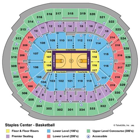 staples center seating chart los angeles concert tickets