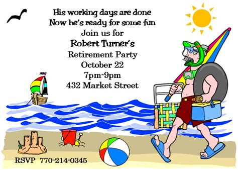 vacation retirement and leisure plans at familyhomeplans com retirement party invitations custom designed new for