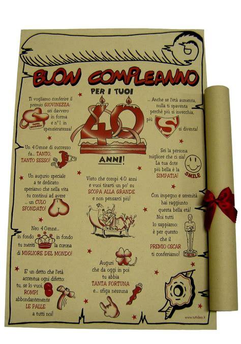 lettere x compleanno papiro 40 anni prodotti e articoli regalo per tutte le