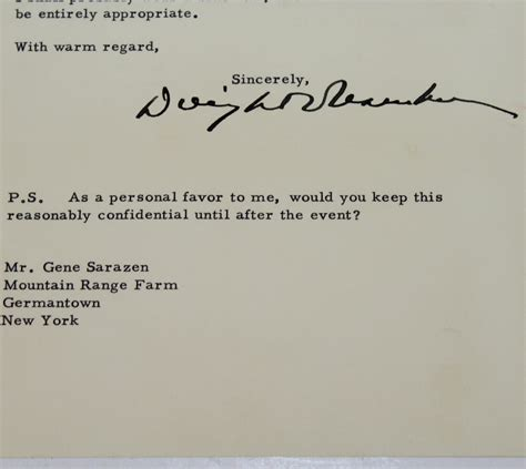 Proof Of Jsa Letter Lot Detail President Eisenhower Signed 1955 Invitation Letter To Gene Sarazen Jsa Aloa