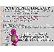 Barney Dinosaur Is In Fact Satan  Funny Joke Pictures