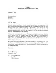 Termination Letter Sample For Poor Attendance Discipline Process