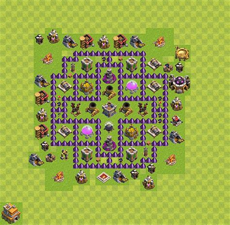 layout design coc th 7 clash of clans base plan layout for farming town hall
