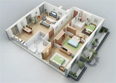 stunning home design plans 3d homer city one floor house plans sq ft luxury small 3 bedroom 15