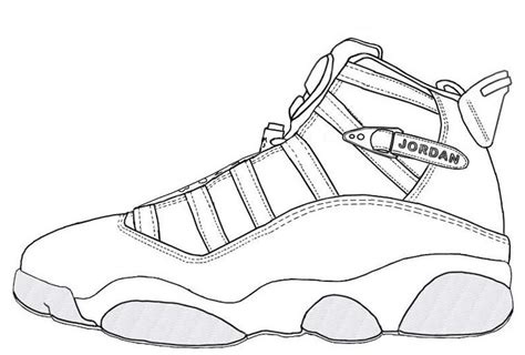 Kd Shoes Drawing Air 5 Coloring Page