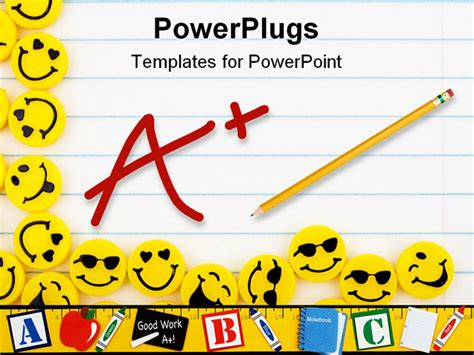 ppt templates free download smile lots of yellow smiley faces on a lined paper background