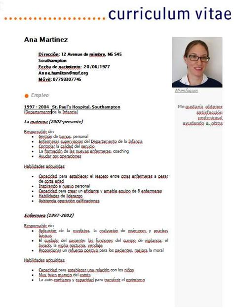 Plantillas De Curriculum Vitae Word Foto Con Foto Tipo Carnet Curriculumsvitae Net