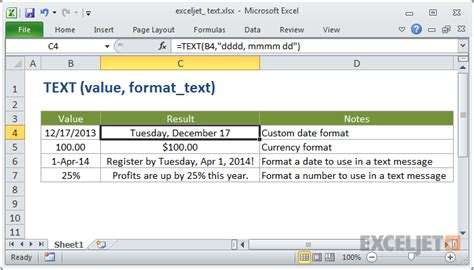 format text en excel how to use the excel text function exceljet