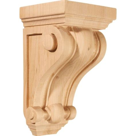 Solid Wood Corbels Ekena Millwork 4 In X 4 In X 7 1 2 In Unfinished Wood