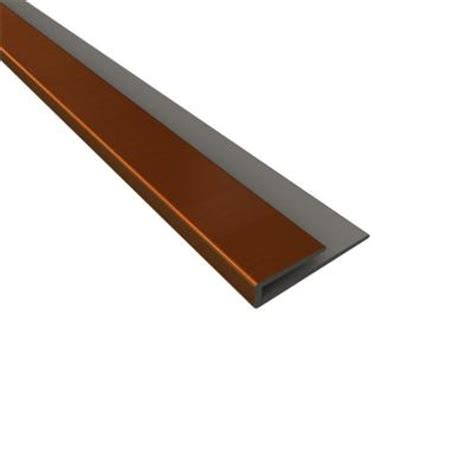 fasade 4 ft rubbed bronze large profile j trim 176 26
