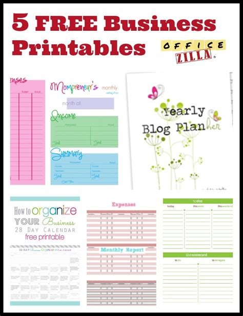 printable home business planner 5 free small business forms http wp me p2qhap 1jg