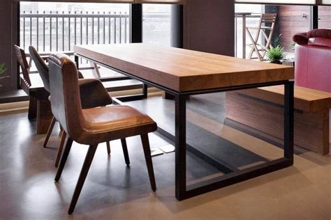 rectangular wood dining table dinette combination  solid