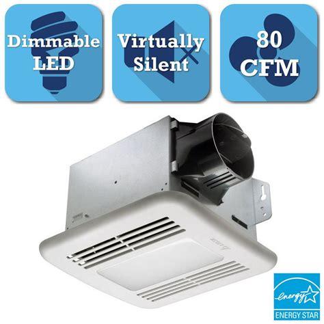bathroom exhaust fan with led light delta breez greenbuilder series 80 cfm ceiling exhaust