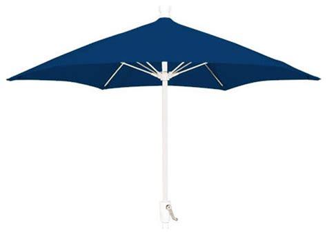7 5 Ft Aluminum Patio Umbrella Navy Blue With White Blue And White Patio Umbrella