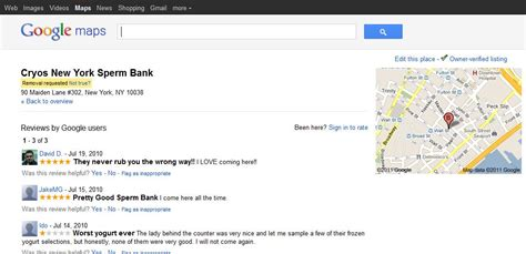 google images can t click sperm bank reviews on google maps very funny pic